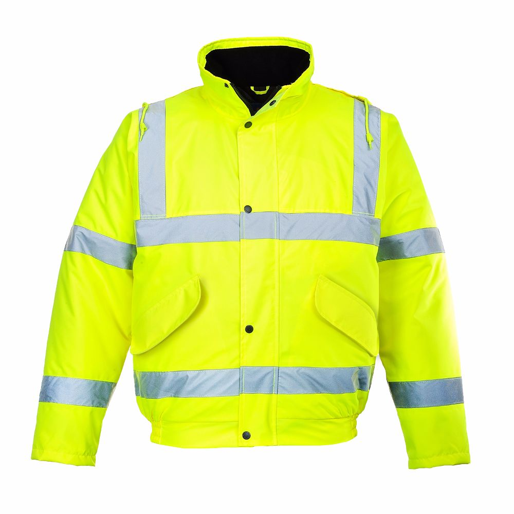 S463 Hi-Vis Bomber Jacket Yellow Large
