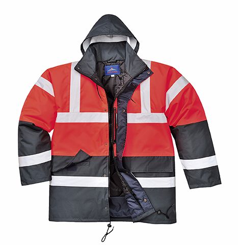 S466 Red/Navy Traffic Jacket 2X-Large