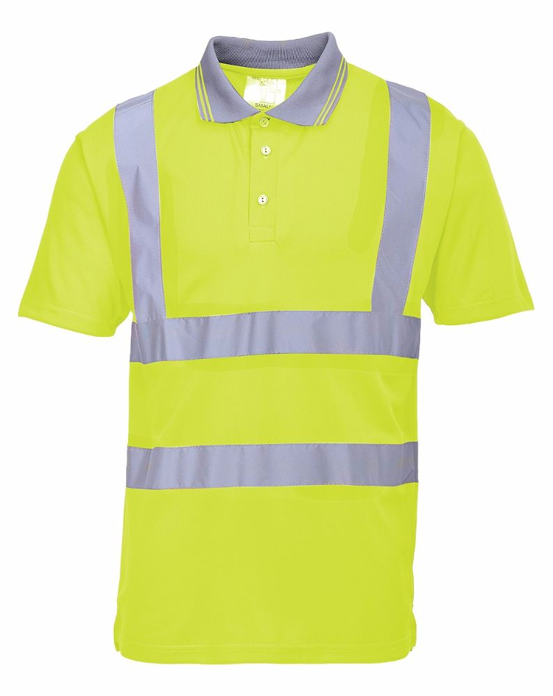 S477 Hi-Viz Polo Shirt Yellow 2X-Large