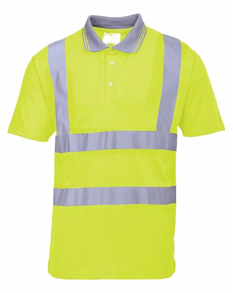 S477 Hi-Viz Polo Shirt Yellow 2X-Large