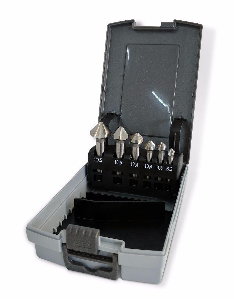 Ruko 6pc HSS 90° Counterink Set DIN 335-C
