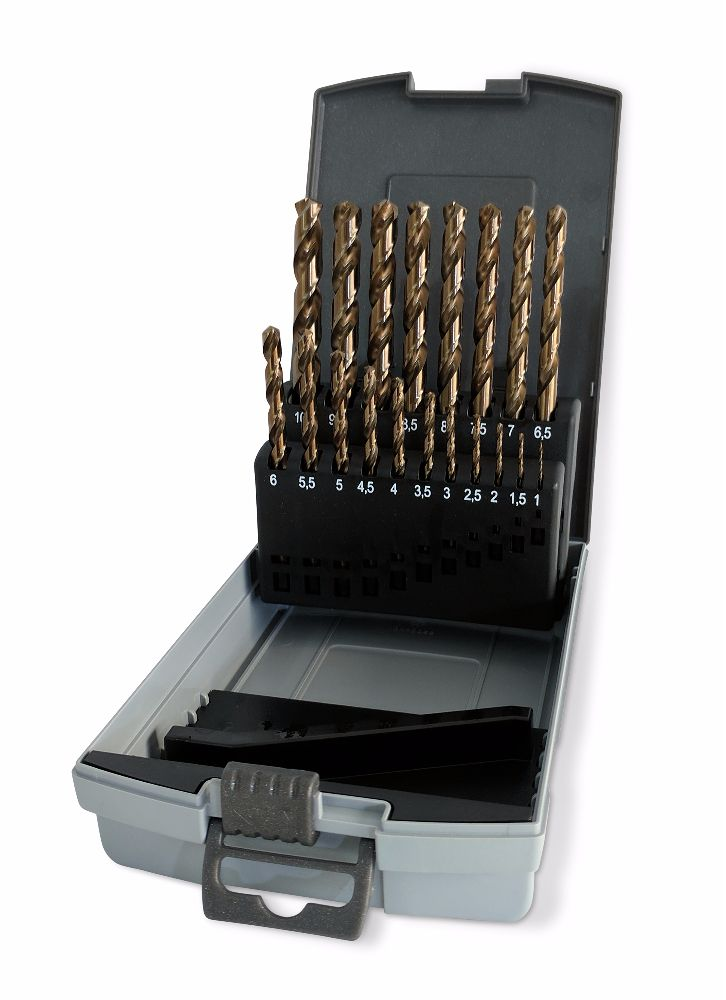 Ruko 19pc HSSE-Co 5 Cobalt Drill Bit Set