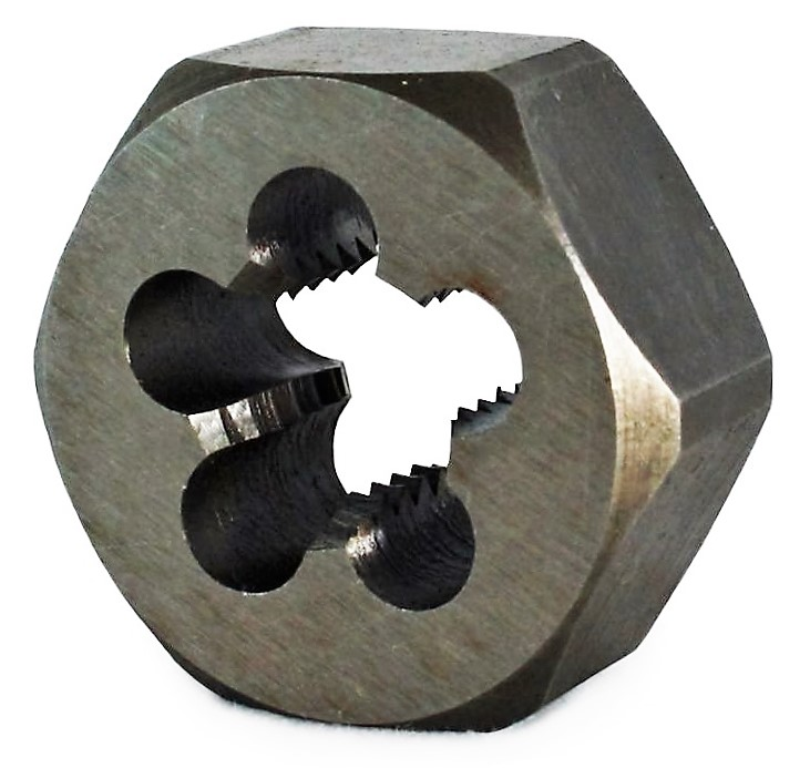 Ruko 1/4 in x 19 BSP Hexagon Die Nut DIN 382