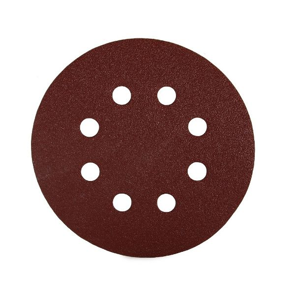 Sait P120 127mm Velcro Disc - 8 Holes