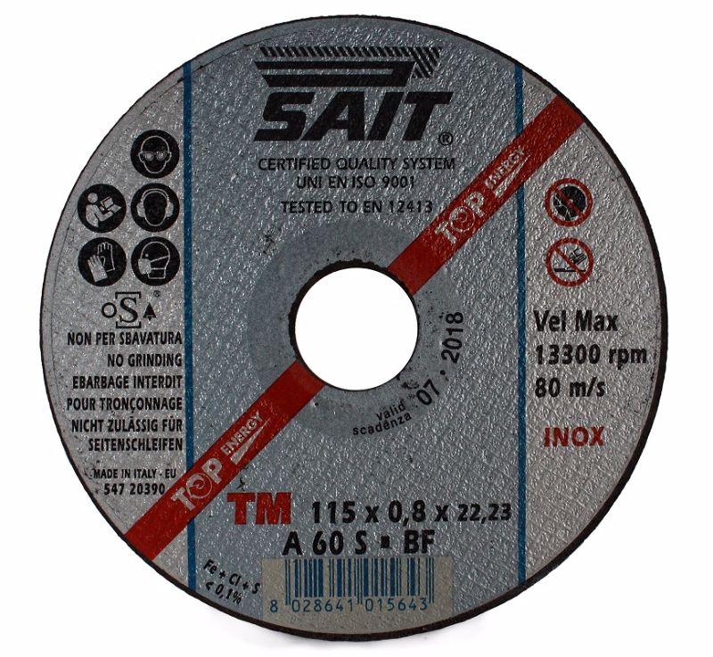 115 x 0.8 x 22.23 Sait Metal Cutting Disc