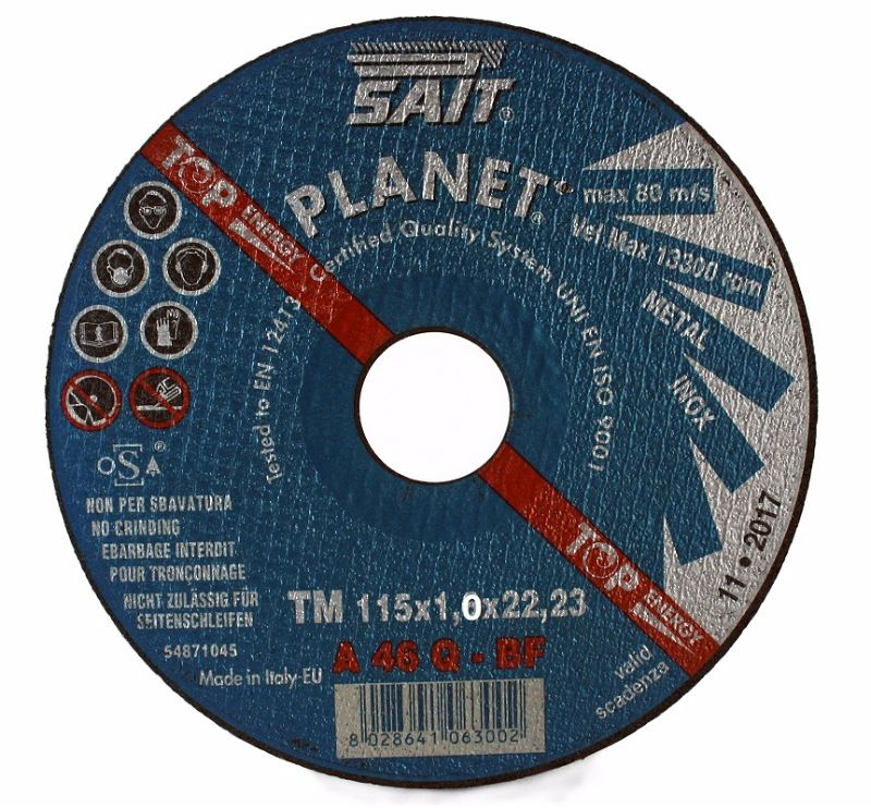 115 x 1 x 22.23 Sait Metal Cutting Disc