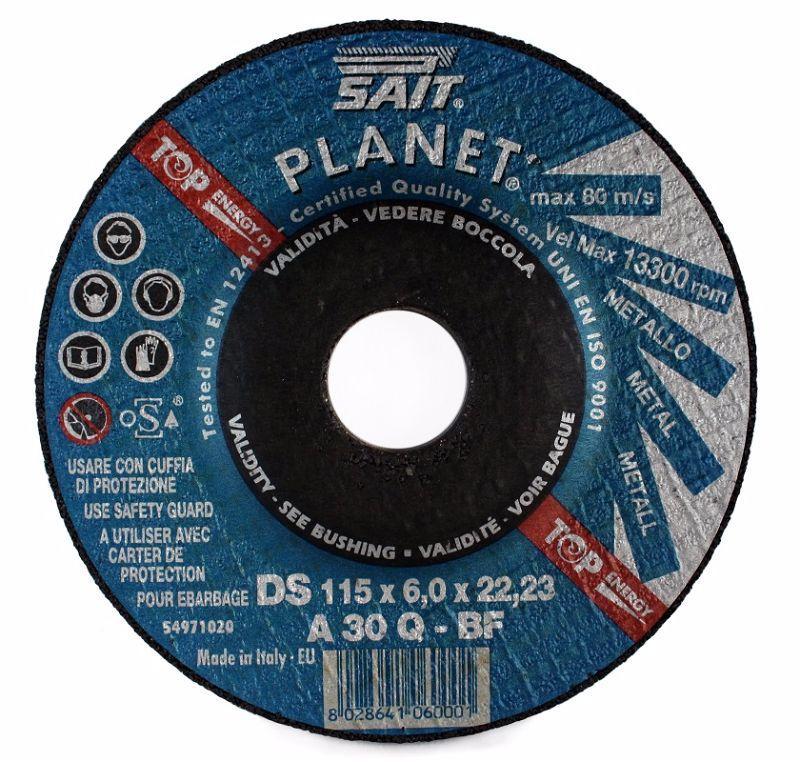 125 x 6 x 22.23 Sait Metal Grinding Disc