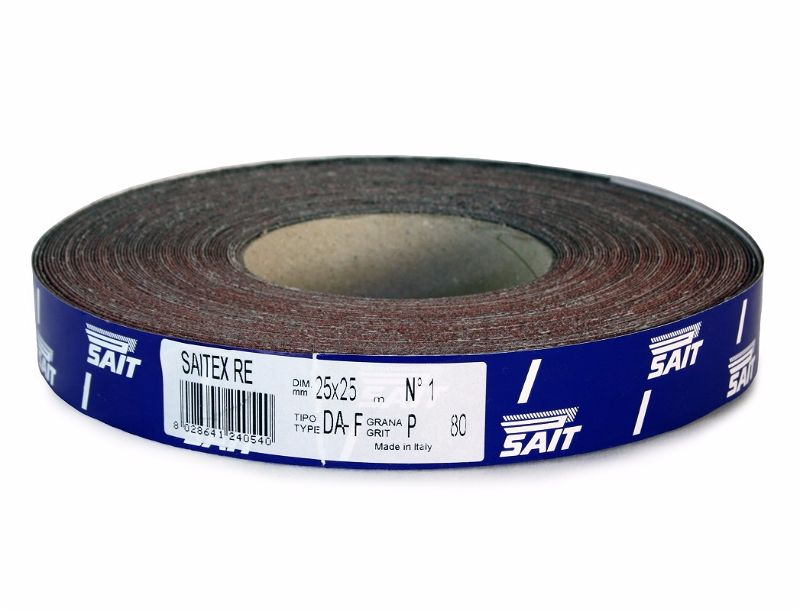 Sait 25mm x 25M P120 Emery Cloth Roll