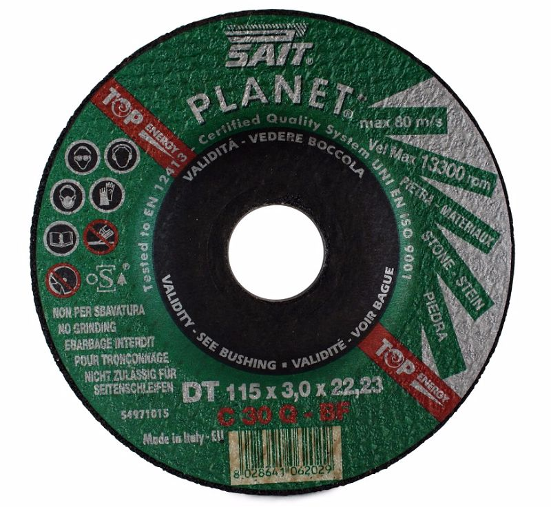 115 x 6 x 22.23 Sait Stone Grinding Disc