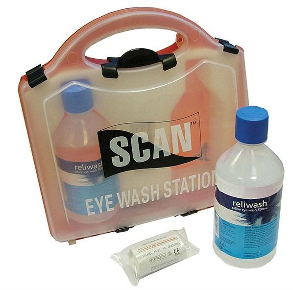 Scan Saline Eye Wash Station