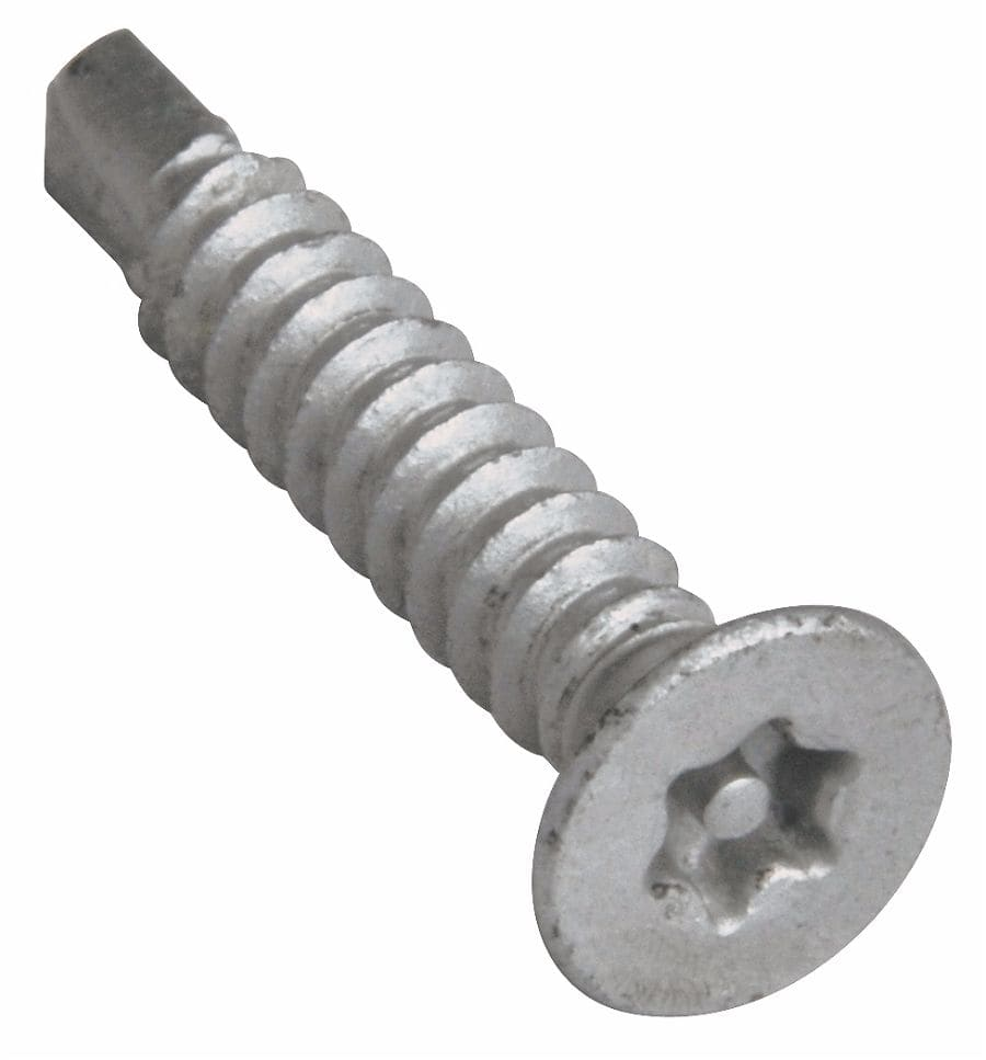 4.2x19mm T20 6-Lobe Pin Countersunk Tek Screw