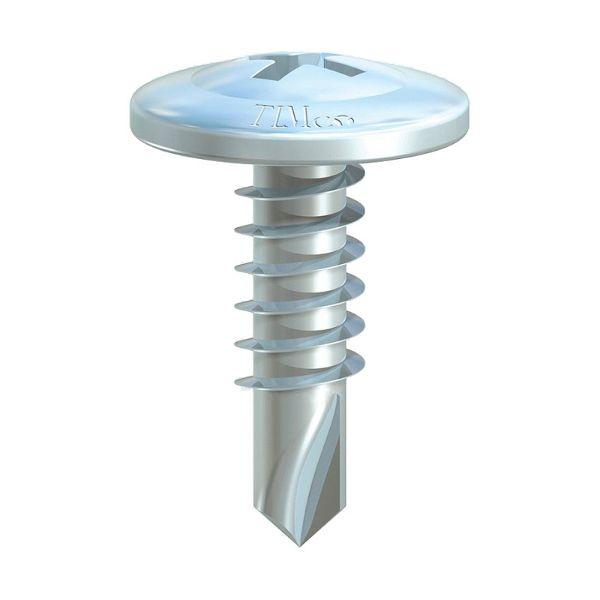 4.2x16mm Wafer Head Self Drilling Screws BZP
