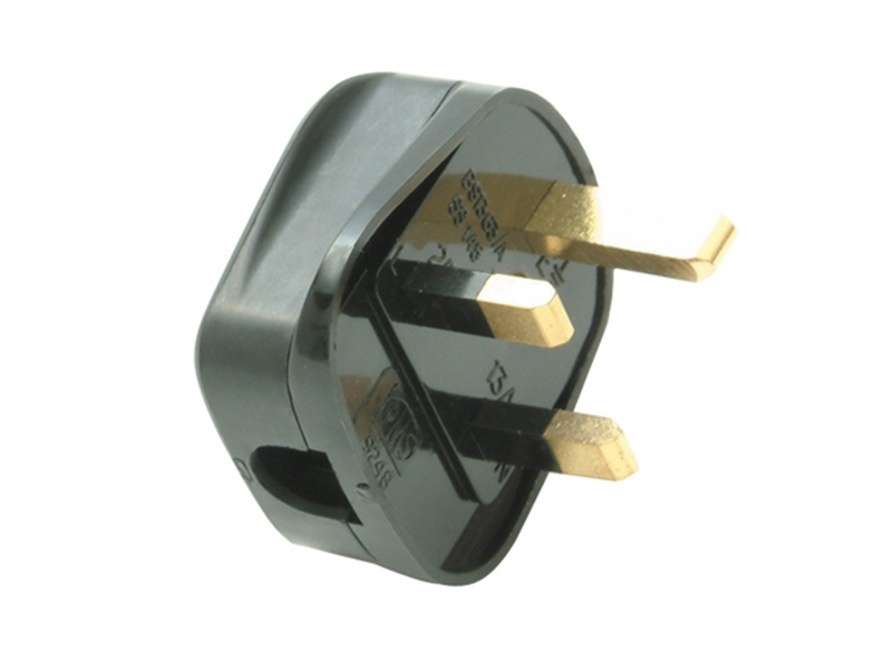SMJ Black 13A Fused Plug (Trade Pack of 20)