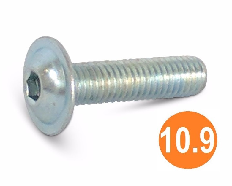 M6x20 Socket Button Flange Head Screw BZP
