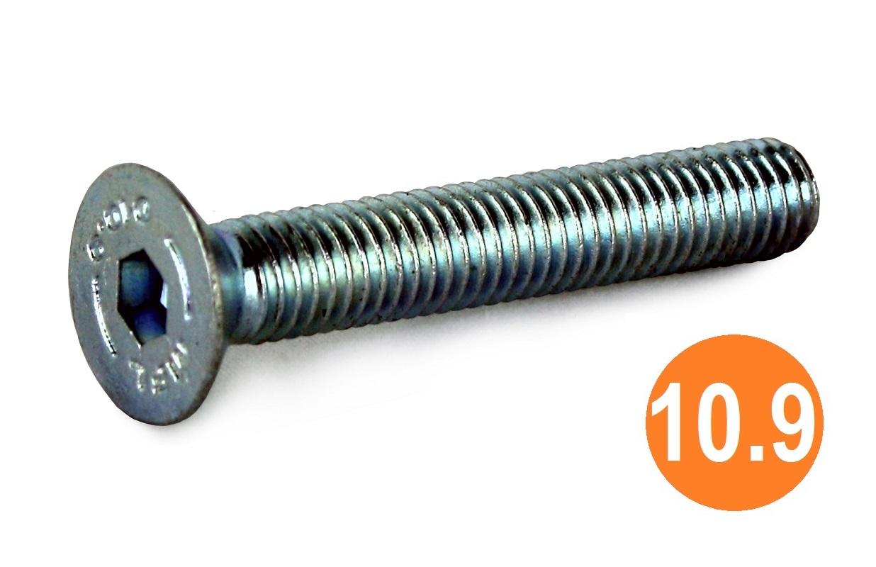 M10x60 Socket CSK Head Screw 10.9 BZP