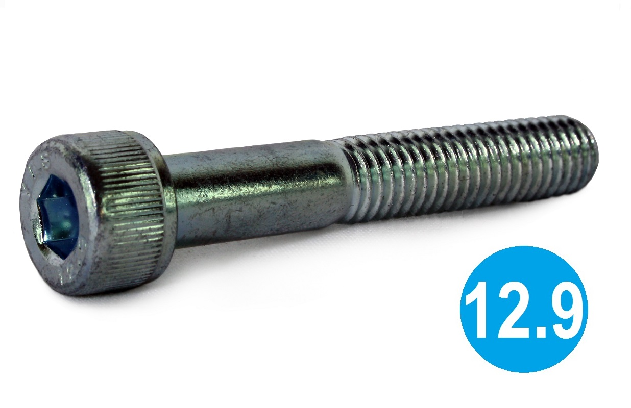 M12x100 Socket Cap Head Screw 12.9 BZP