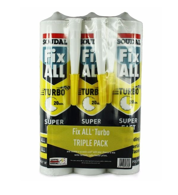 Fix All® Turbo Super Fast White Triple Pack