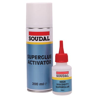 Soudal Mitre Kit 50gm Bottle + 200ml Aerosol