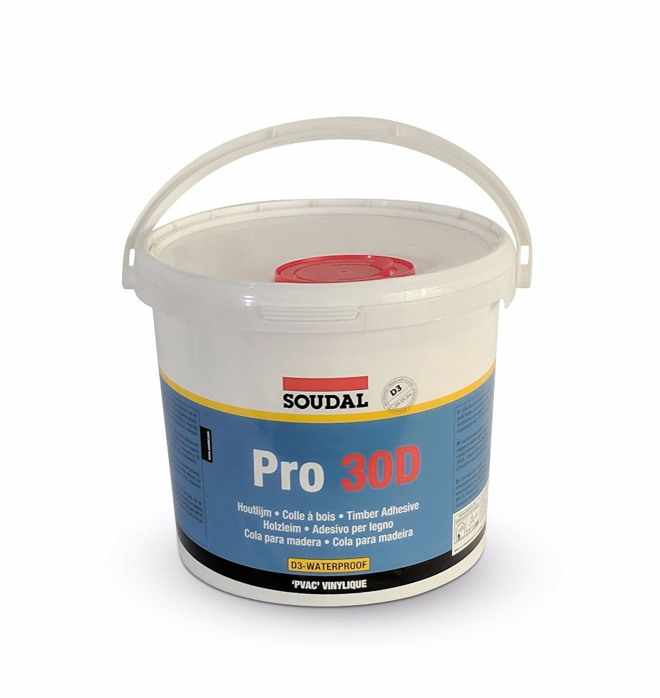 Soudal PRO 30D PVA D3 Wood Glue 5kg Bucket
