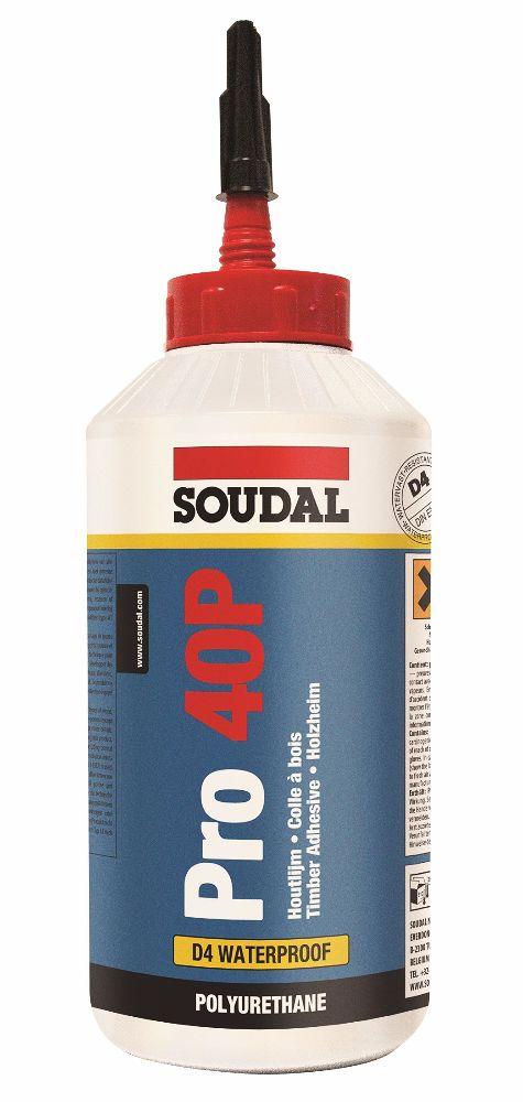 Soudal PRO 40P 15 Min PU D4 Wood Glue 750gm