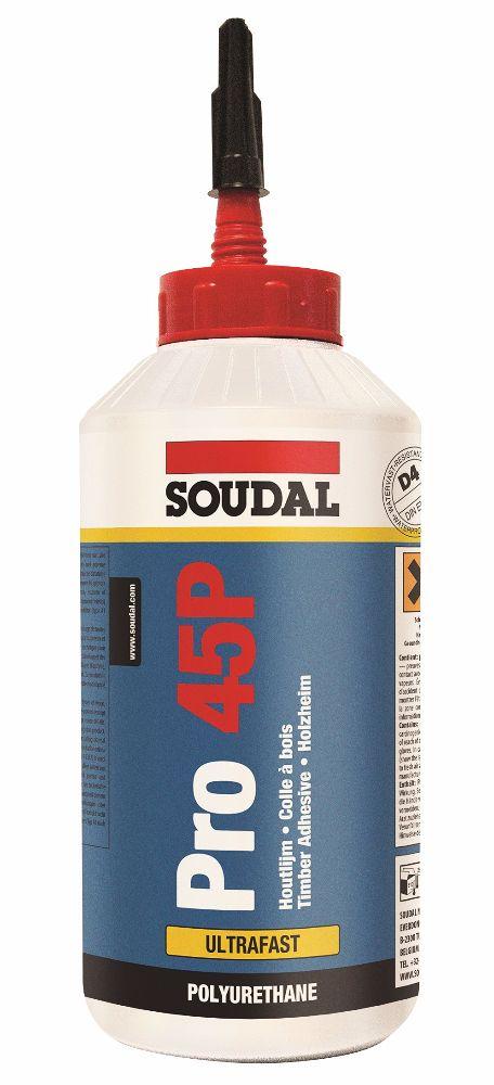 Soudal PRO 45P 5 Min PU D4 Wood Glue 750gm