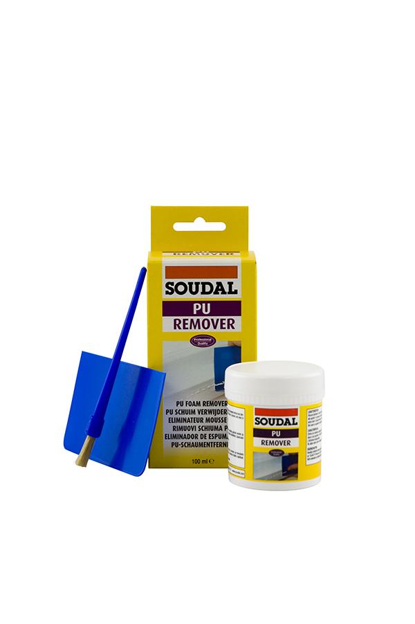 Soudal Cured PU Foam Remover 100ml Bottle