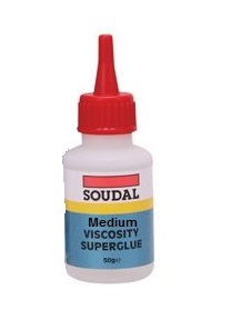 Soudal Medium Viscosity Superglue 50gm Bottle