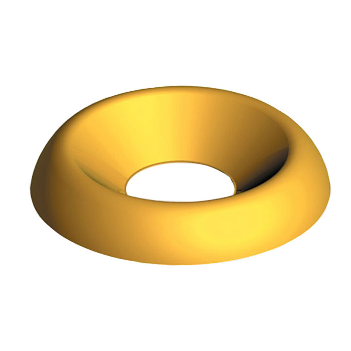 8G Surface Screw Cups Electro Brass
