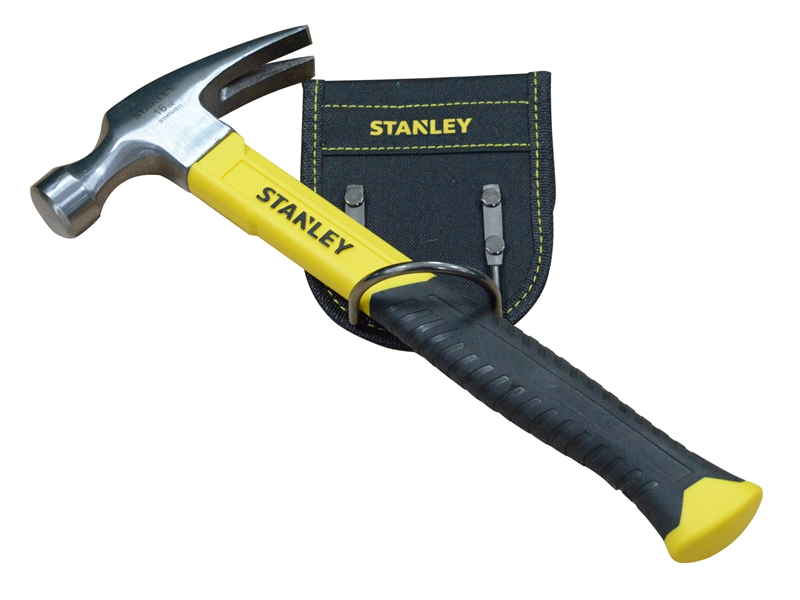Stanley 16oz Hammer + Belt Mounted Holder