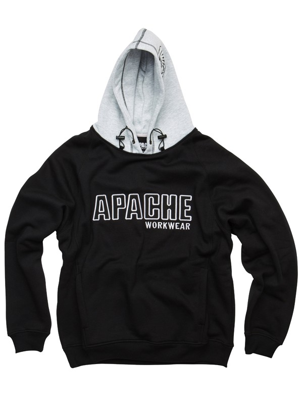 Apache Hooded Sweatshirt Black/Grey 2X-Large