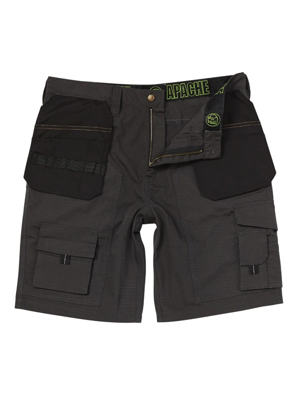 Apache Holster No Rip Shorts Black/Grey 30''