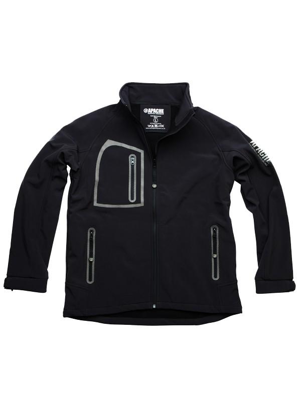 Apache Soft Shell Jacket Black/Grey Large