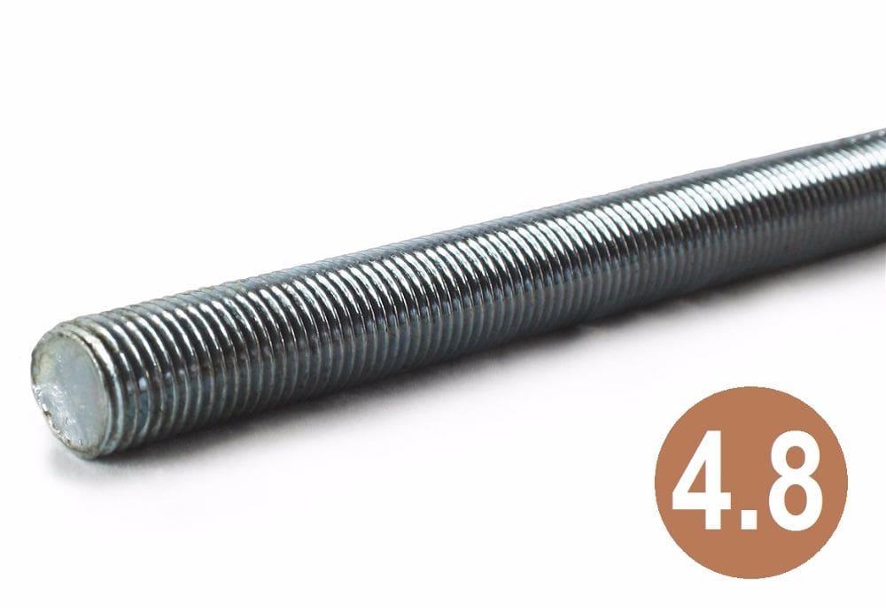 M14 x 1.50p x 1M 4.8 Fine Pitch Studding BZP