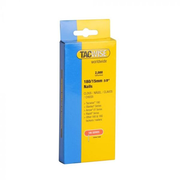 TACWISE 180 18 Gauge 15mm Nails Pack 2000
