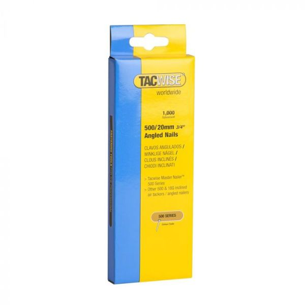 TACWISE 500 18 Gauge 20mm Angled Nails