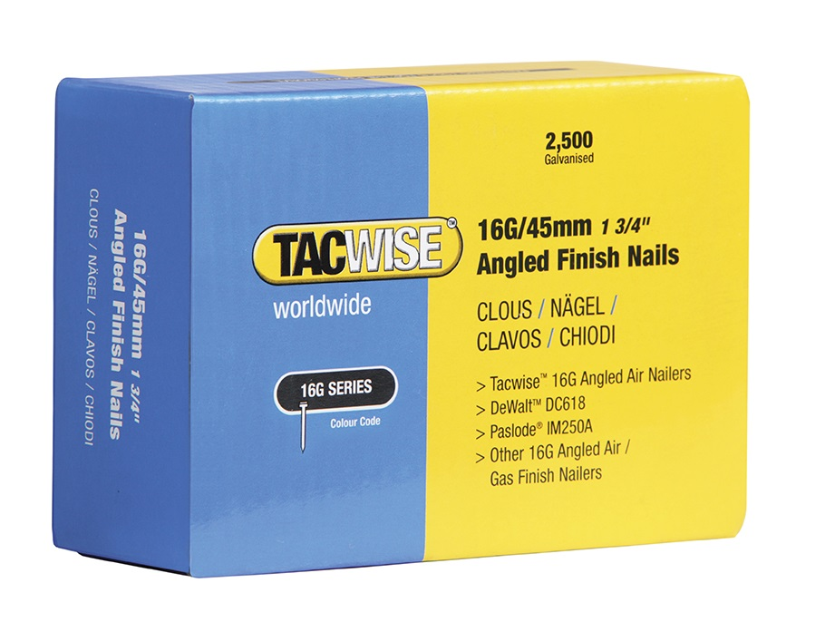 TACWISE 16 Gauge Angled Nails 32mm For DC618K