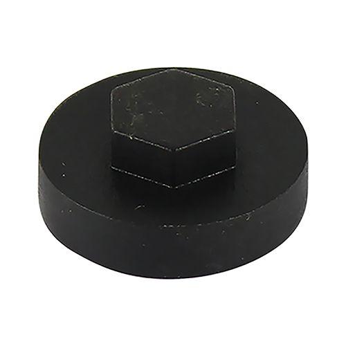 TIMco 16mm Dia Black Push-On Cover Cap