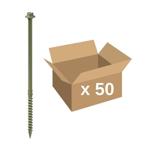 TIMco 60IN Verde /Índice Tornillo Hexagonal Timber