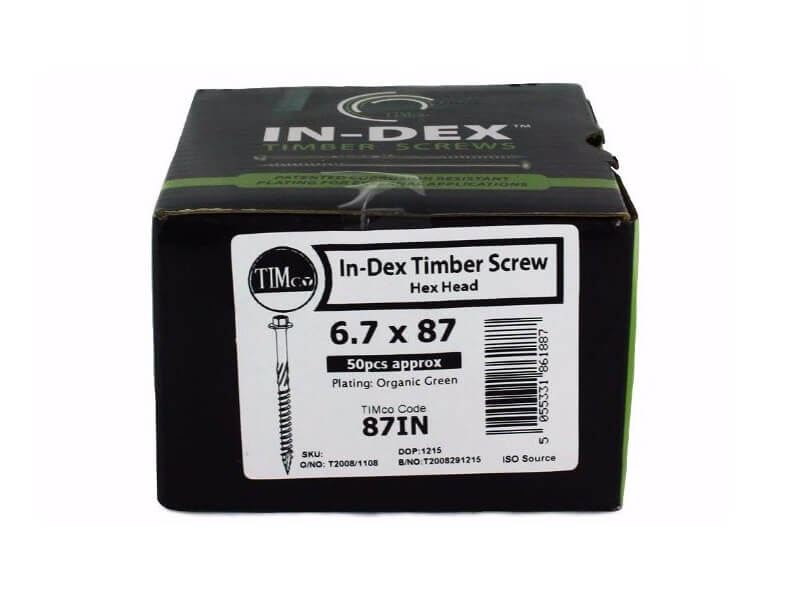 TIMco Index Timber Screws 6 7 x 87mm (50)