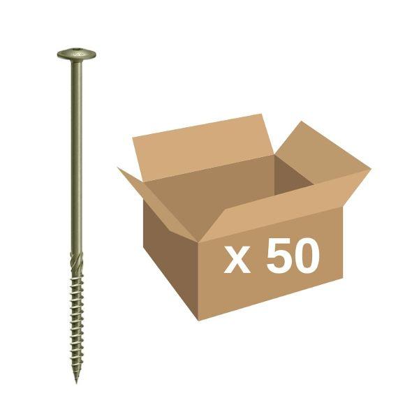 150 Flat Head 1//4 x 2 Split Drive Anchors Concrete Nail-in Hammer-in