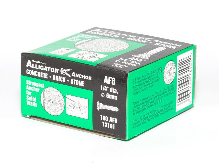 TOGGLER® AF6 Flanged Alligator Plug (Box 100)