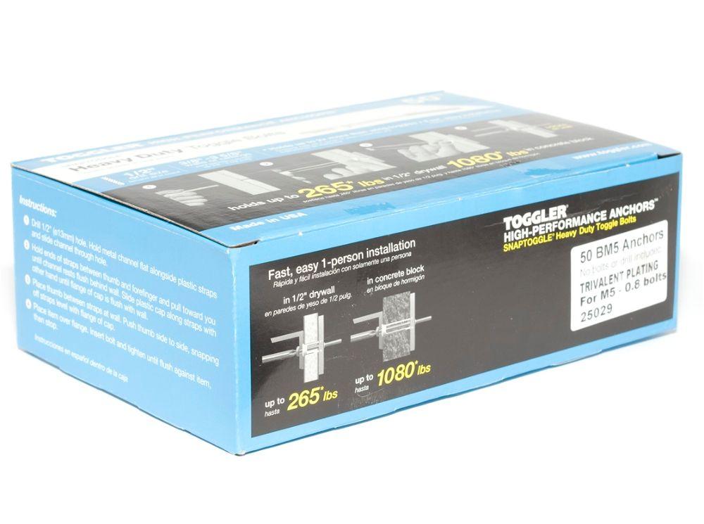 TOGGLER® BM5 M5 Snaptoggle (Box of 50)