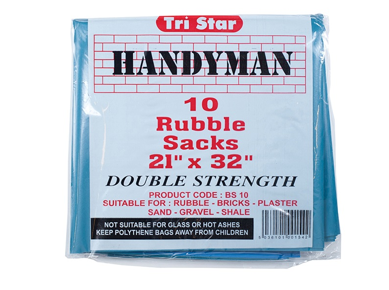TRISTAR Heavy-Duty Blue Rubble Sacks (10) 20