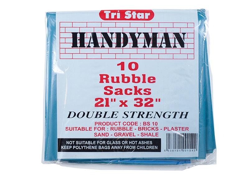 TRISTAR Heavy-Duty Blue Rubble Sacks (10) 20