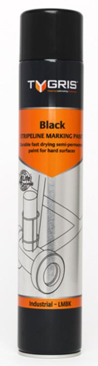 Tygris Line Marking Paint 750ml Black