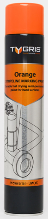 Tygris Line Marking Paint 750ml Orange