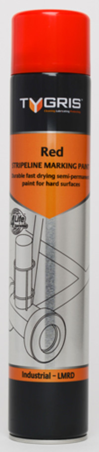 Tygris Line Marking Paint 750ml Red