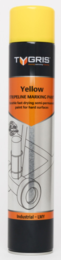 Tygris Line Marking Paint 750ml Yellow