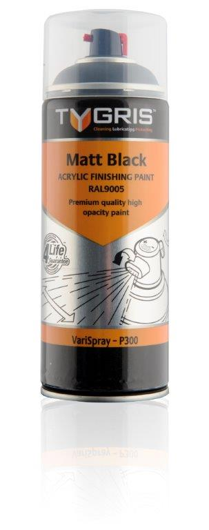 P300 Matt Black Paint RAL9005 400ml