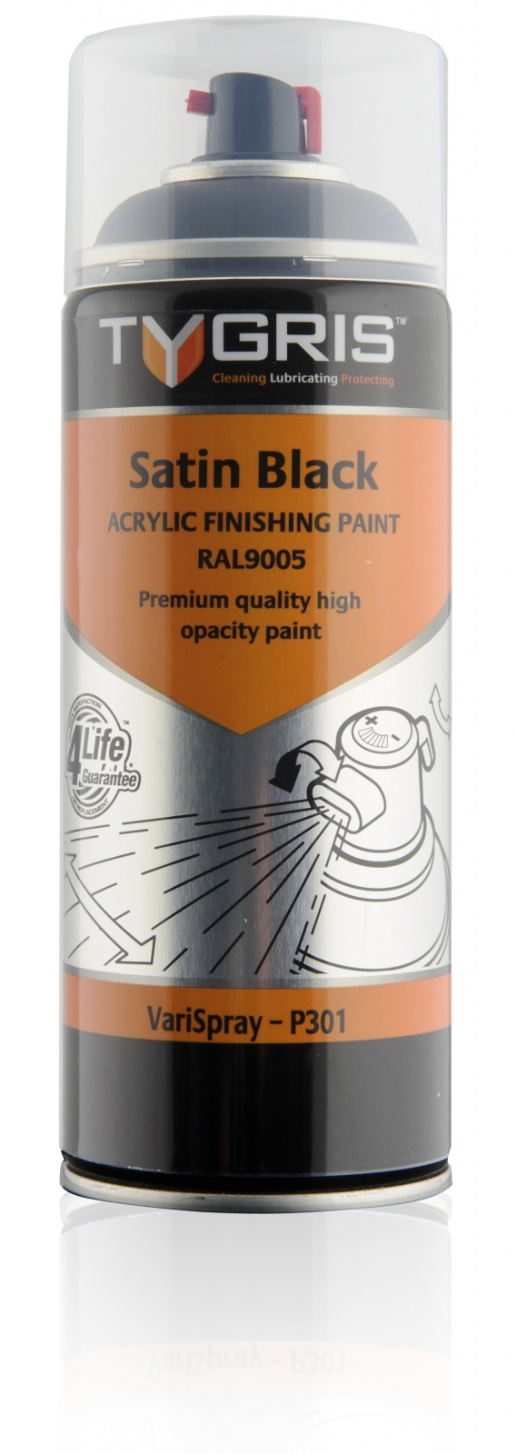 P301 Satin Black Paint RAL9005 400ml